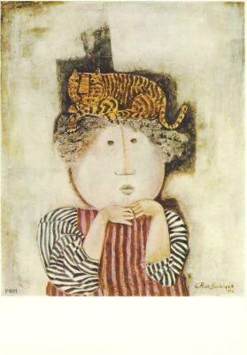 Graciela-Rodo Boulanger. Kätzchen auf dem Kopf