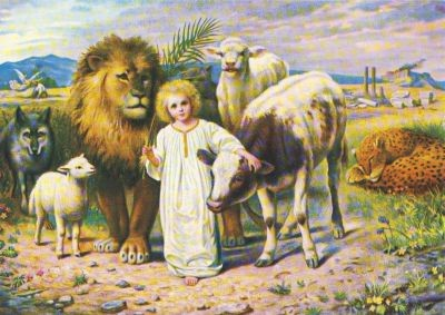 William Strutt. Friede (Jesaja 11,6)