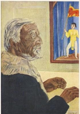 Erich Heckel. Bildnis des Malers Christian.Rohlfs