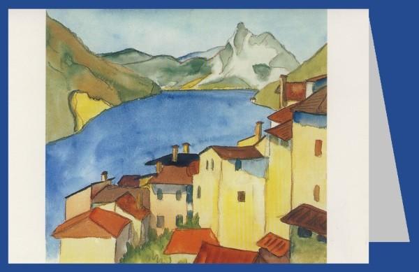 Hermann Hesse. Albogasio, Aquarell Juli 1925