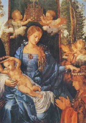 Albrecht Dürer. Das Rosenkranzfest, Ausschnitt. KK
