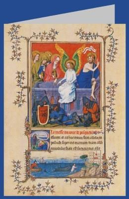 Auferstehung Christi, Turin-Mailänder Stundenbuch 14. Jh. DK