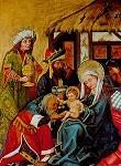 Anbetung der Könige. Fränkisch 1470. KK