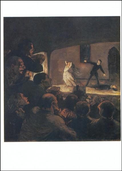 Honoré Daumier. Das Drama, um 1860. KK