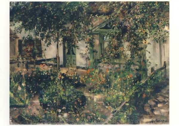 Corinth, L. Blühender Bauerngarten, 1904. KK