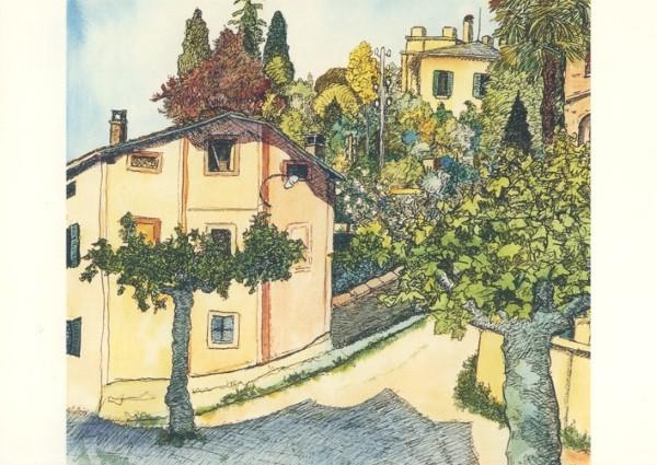Hermann Hesse. Blick aus der Casa Camuzzi, Juli 1931