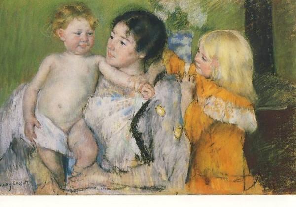 Mary Cassatt. Nach dem Bad. KK