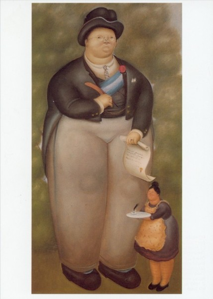 Fernando Botero. Der Präsident, 1969. KK