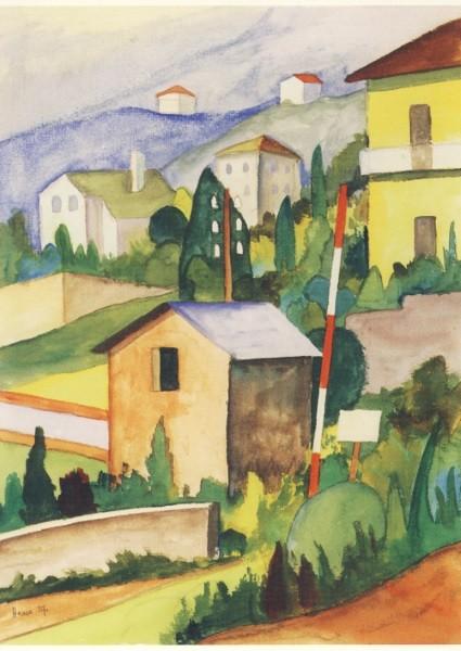 Hermann Hesse. Eisenbahnschranke am Dorfeingang, 1927