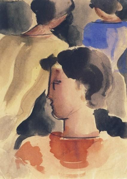 Oskar Schlemmer. Gruppe mit rotem Knaben, 1931