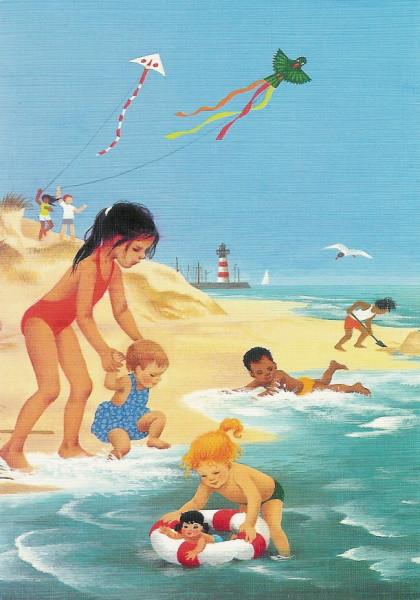 Gerda Muller. Sommer, Kinder am Meer. KK