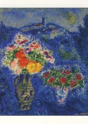 Marc Chagall. Veilchenstrauss