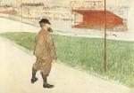 Henri de Toulouse-Lautrec. Tristan Bernard im Buffalo-Sta