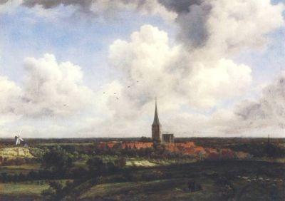 Ruisdael, J. Flachlandschaft mit Kirchendorf. KK