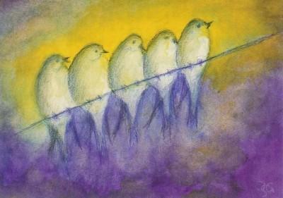 Scholzen-Gnad. Vögel im Herbst. KK