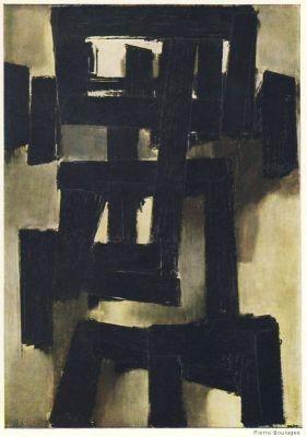 Soulages, P. Peinture, 1955 (2.Wahl)