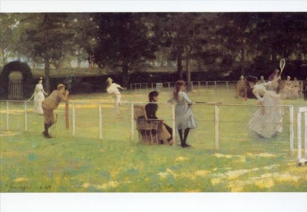 Lavery, Sir John. Die Tennispartie, 1885. KK