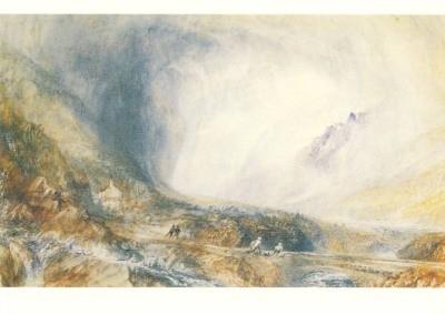 Joseph Mallord William Turner. Sturm/ St. Gotthard, Schweiz
