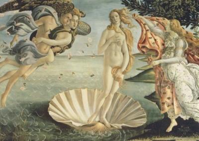 Botticelli. Die Geburt der Venus, um 1482. KK