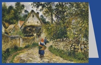 Camille Pissarro. Der Dorfweg, 1880