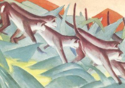 Franz Marc. Affenfries, 1911