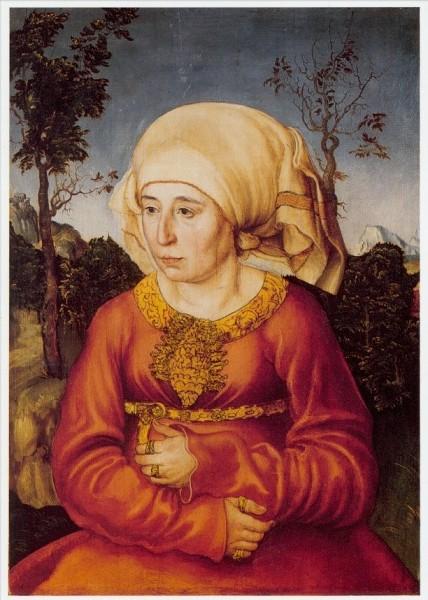 Cranach, Lucas d.Ä. Bildnis der Frau e. Gelehrten, 1503. KK