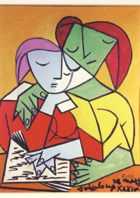Pablo Picasso. Zwei lesende Mädchen, 1934