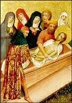 Kölnsche Malschule. Grablegung Christi, um 1400. KK