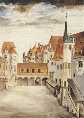 Albrecht Dürer. Hof der Innsbrücker Burg II. KK