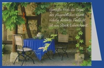 Engeln, R. Genieße froh die Tage,.... Foto-DK