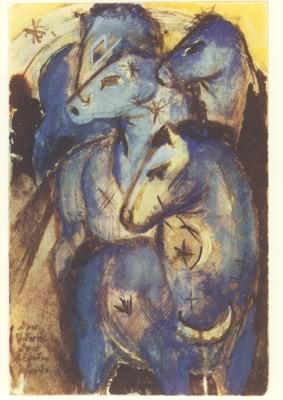 Marc, F. Der Turm der blauen Pferde, Marc