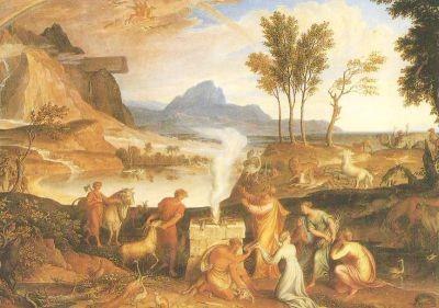 Koch, J.-A. Noahs Dankopfer nach der Sinflut, 1814. KK