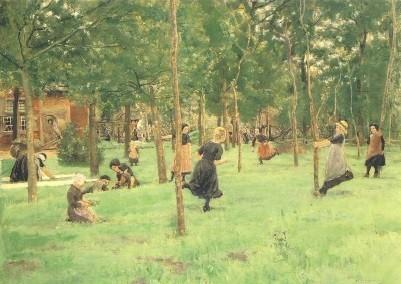 Max Liebermann. Spielende Kinder, 1882. KK