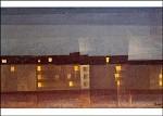 Lyonel Feininger. Beleuchtete Häuserzeile. KK