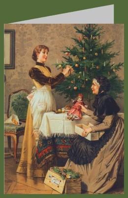 Robert Beyschlag. Unter dem Weihnachtsbaum, 1892