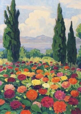 Blanche Camus, Blumenpracht in Saint-Tropez