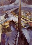 Robert Delaunay. Dachreiter von Notre Dame, Paris. KK