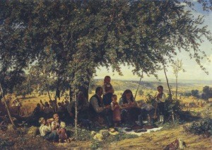 Schüz, Theodor. Mittagsruhe in der Ernte, 1861
