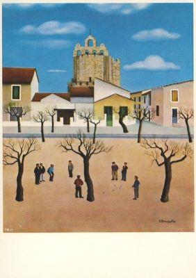 Robert Broussolle. Boule Spiel in Les Stes.Mariees de la Mer