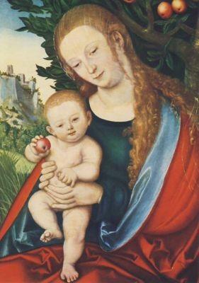 Cranach, Lucas d.Ä. Maria u. e. Apfelbaum. KK