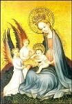 Meister von St. Laurenz. Maria im Paradiesgarten,um 1415. KK