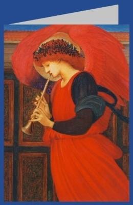 Edward Burne-Jones. Flageolett spielender Engel. DK