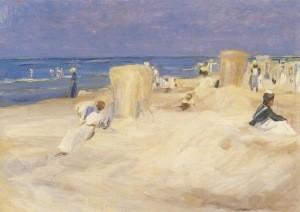 Max Liebermann. Am Strand von Nordwijk, 1908. KK