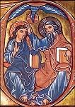 Dreifaltigkeit, Bibel der Abtei Heisterbach um 1240. KK