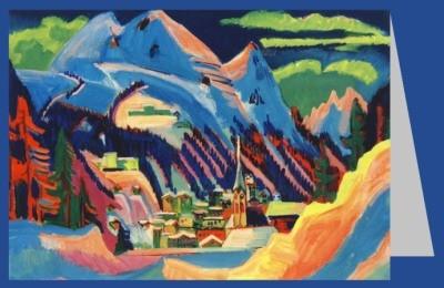 Ernst Ludwig Kirchner. Davos im Schnee, 1923. DK
