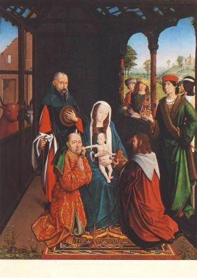 Niederländischer Meister. Die Anbetung der Könige, 16.Jh. KK