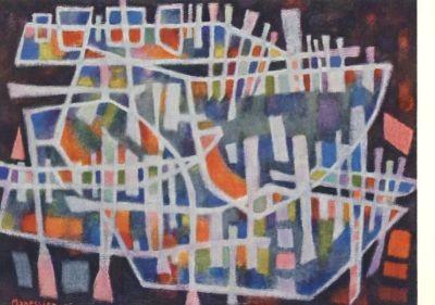 Manessier, A. Abendlicher Hafen, 1956. KK