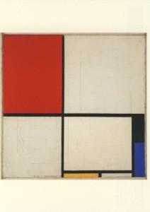 Piet Mondrian. Komposition m.Rot, Schwarz, Blau, Gelb, 1928