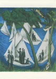 Ernst Ludwig Kirchner. Segelboote bei Grünau, 1914