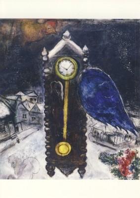 Marc Chagall. Die Uhr mit blauem Flügel, 1949